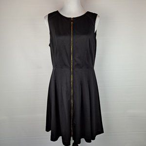 Vince Camuto Black Dress with Zippered Front
